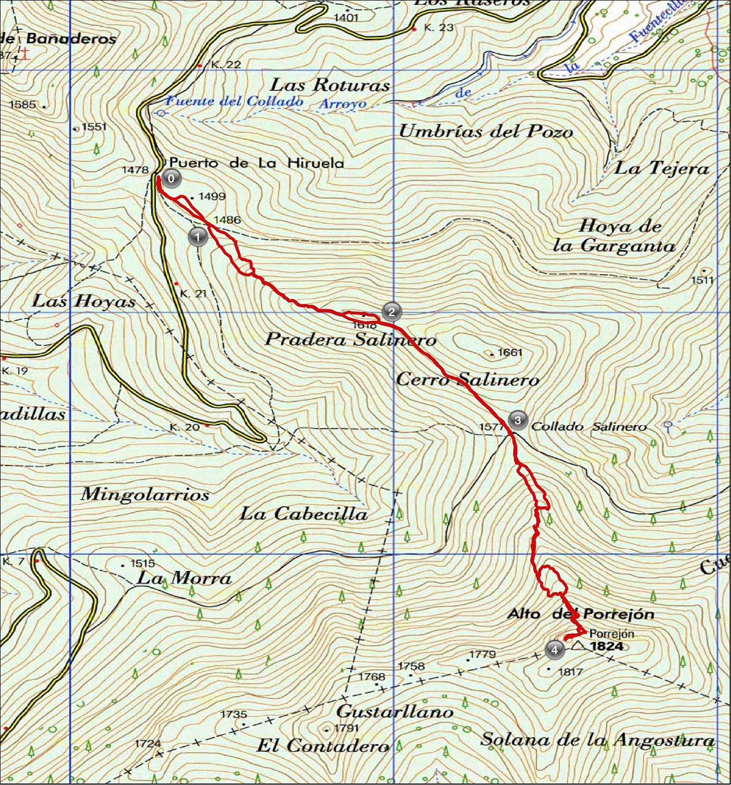 la hiruela rutas senderismo